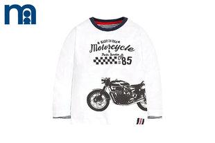 mothercare英国男童长袖T恤圆领长袖摩托车儿童T恤上衣打