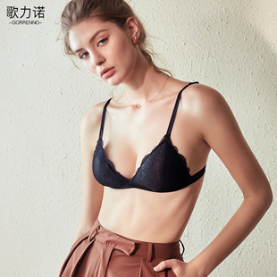 歌力诺文胸内衣女性感蕾丝薄款胸罩