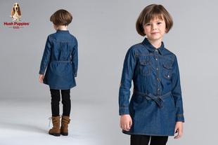 【1折秒杀】【领10元券,券后29.9秒杀】暇步士童装女童时尚牛仔衬衫裙