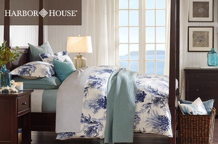 Harbor House 全棉印花四件套床上用品 床单被套套件 美式家纺
