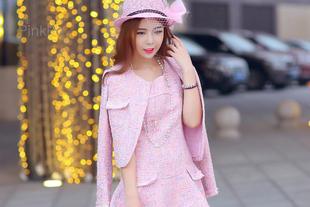 【年后发货】the pinkpo独家定制 小香风毛呢外套套装