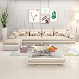 现代简约小户型布艺沙发客厅组合