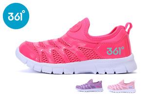 【满299减20】361度童鞋 女童运动鞋儿童毛毛虫凉鞋