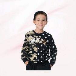 Converse children's 2021 spring and autumn new boys' sweater
