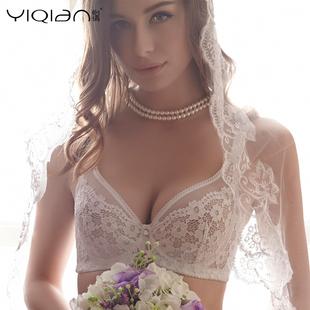 怡倩薄款内衣女夏季性感透明聚拢胸罩大胸显小全罩杯超薄文胸